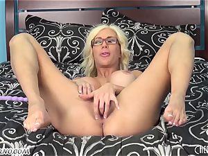Austrian cutie nailing fuck sticks in her vagina