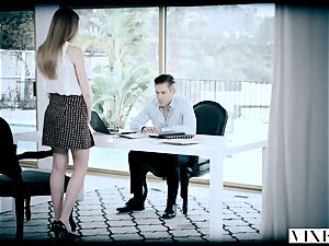 VIXEN ultra-kinky secretary Gets strapped Up and humped By Her boss