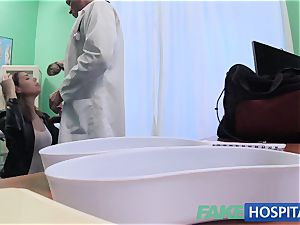 FakeHospital filthy doctor plumbs thief and creampies her