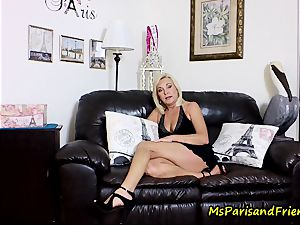 jism on Mommy's hooters with Ms Paris Rose