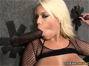Bridgette B fellates many dark-hued lollipops - Gloryhole