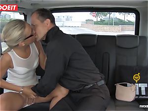 Czech customer Vinna Reed gets smashed in cab