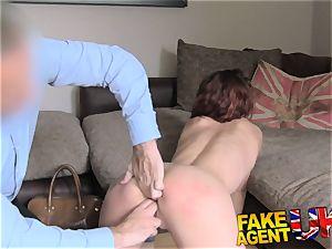 FakeAgentUK Agent has powerful restrain bondage session with cougar