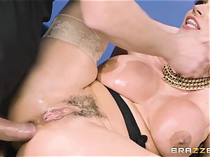 caboose screwing milf Ariella Ferrera in the office