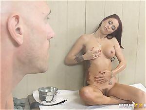 Monique Alexander porks her employee in a sauna