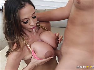 buxomy mummy fucks her lover while spouse is away