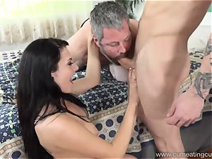 Megan Sages spouse wanks tiny boner As She Gets boinked