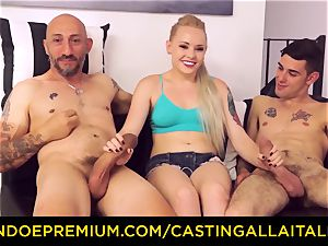 CASTNG ALLA ITALIANA - blonde vixen rough double penetration fuck-fest