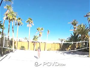 POVD Backyard badminton anal invasion pulverize with Anissa Kate