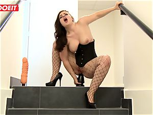 LETSDOEIT - dark haired Thot double-penetrated hardcore By greatest mates