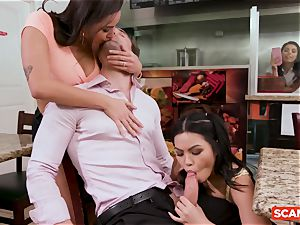 SCAM ANGELS - Karlee Grey and Gina Valentina group fuck-fest