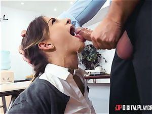 rigorous educator Keiran Lee penalizes his negligent collegegirl