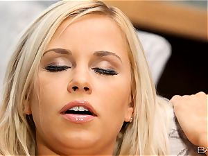 light-haired Lola Myluv gets super-steamy and wild by herself