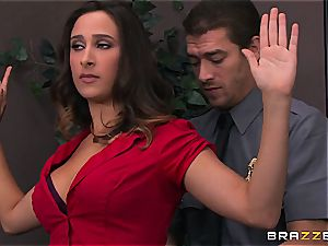 Ashley Adams gets torn up by 2 cops