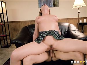 Smoking steaming college girl pulverize with Blair Williams