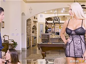 jizzswapping beauties Adriana Chechik and Nicolette Shea screwed deep